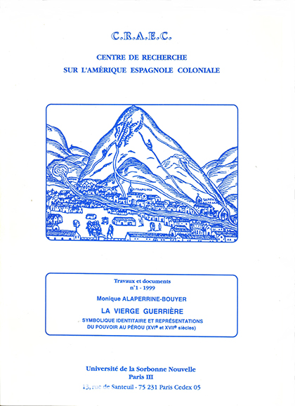 CRAEC PUBLICATIONS 1999 Alaperrine portada