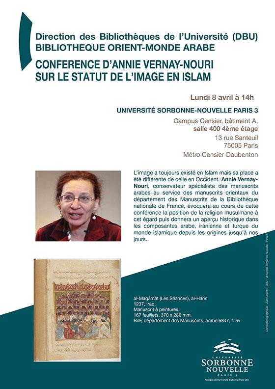 Conférence d'Annie Vernay-Nouri