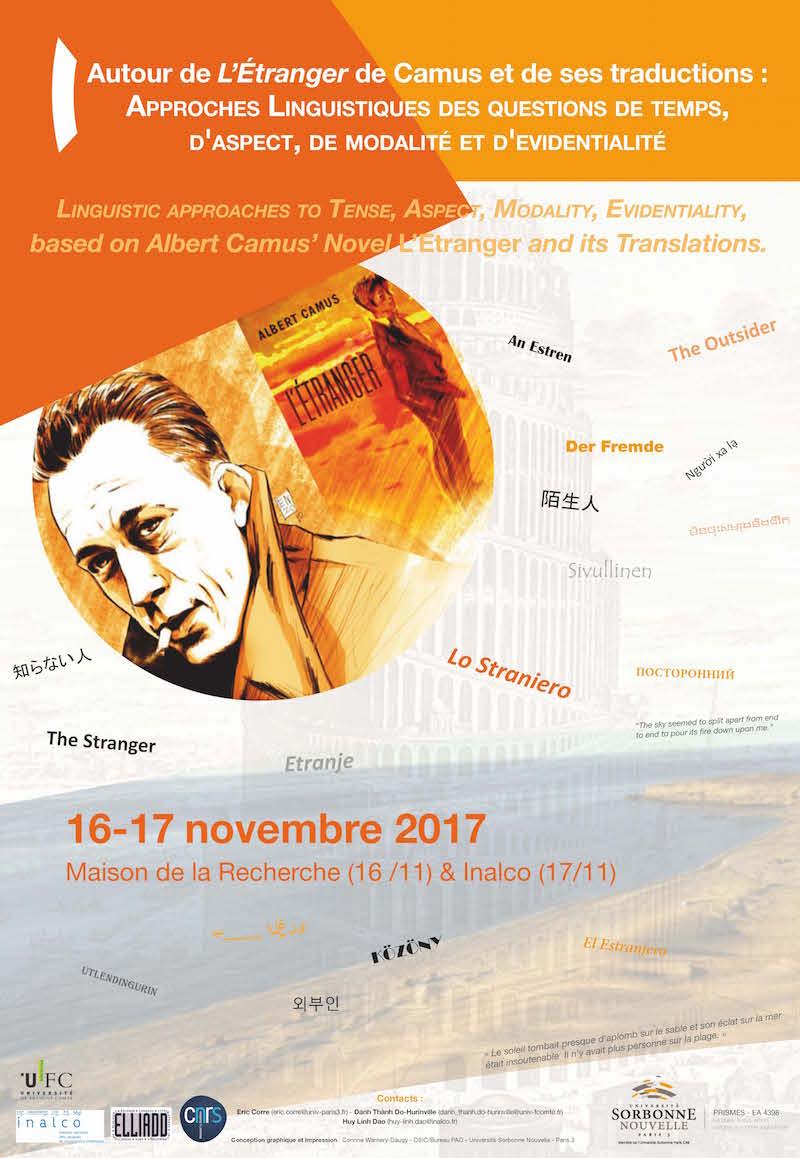 Affiche Autour de l'Etranger de Camus et de ses traductions.jpg