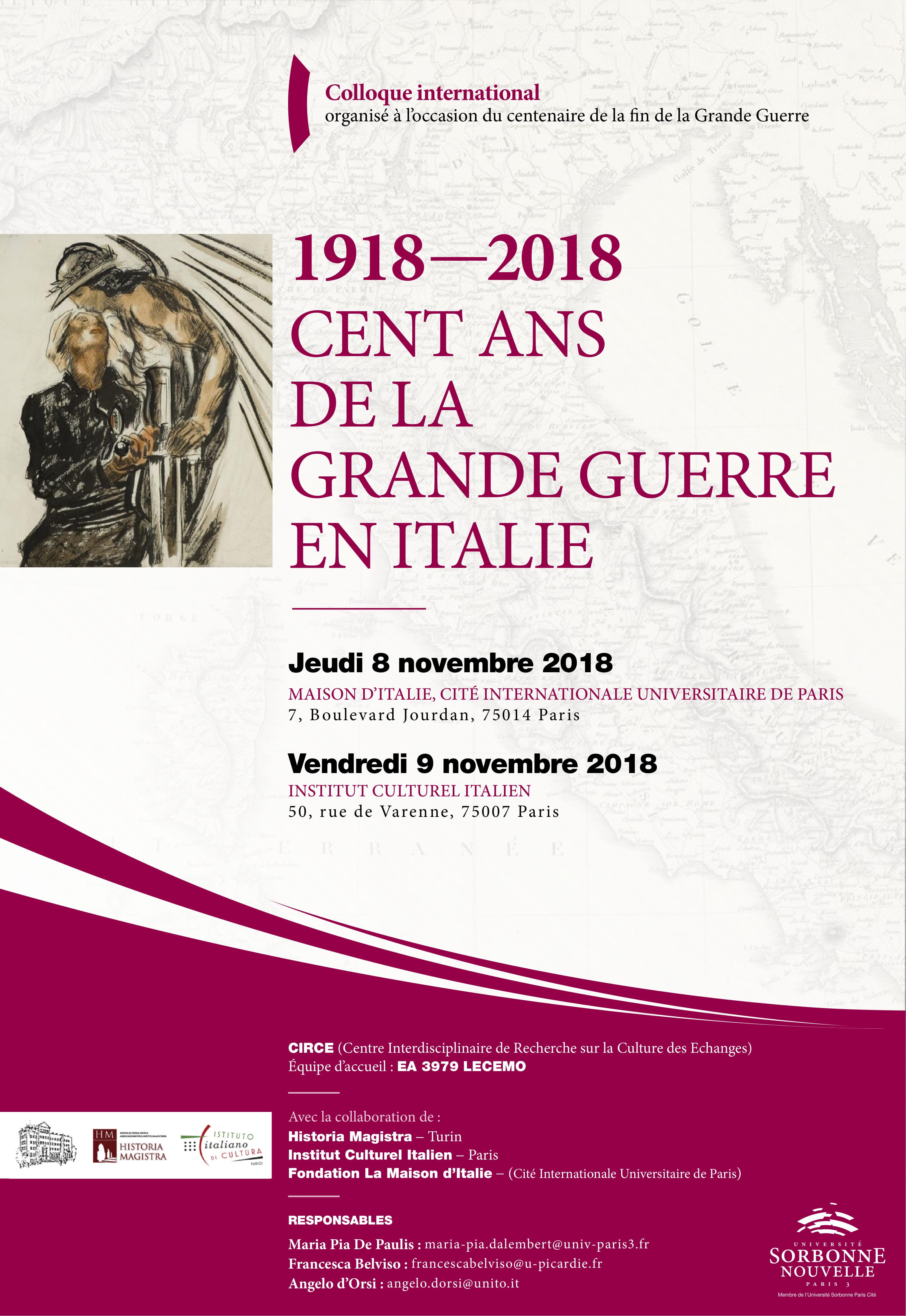 Affiche - Colloque 1918-2018 cent de la Grande Guerre en Italie-1.jpg