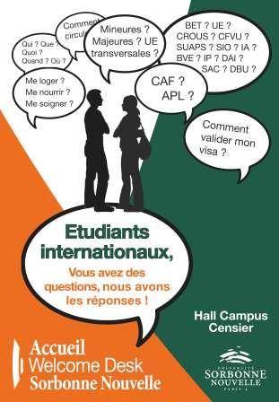 Affiche DAI Welcome Desk Sorbonne Nouvelle