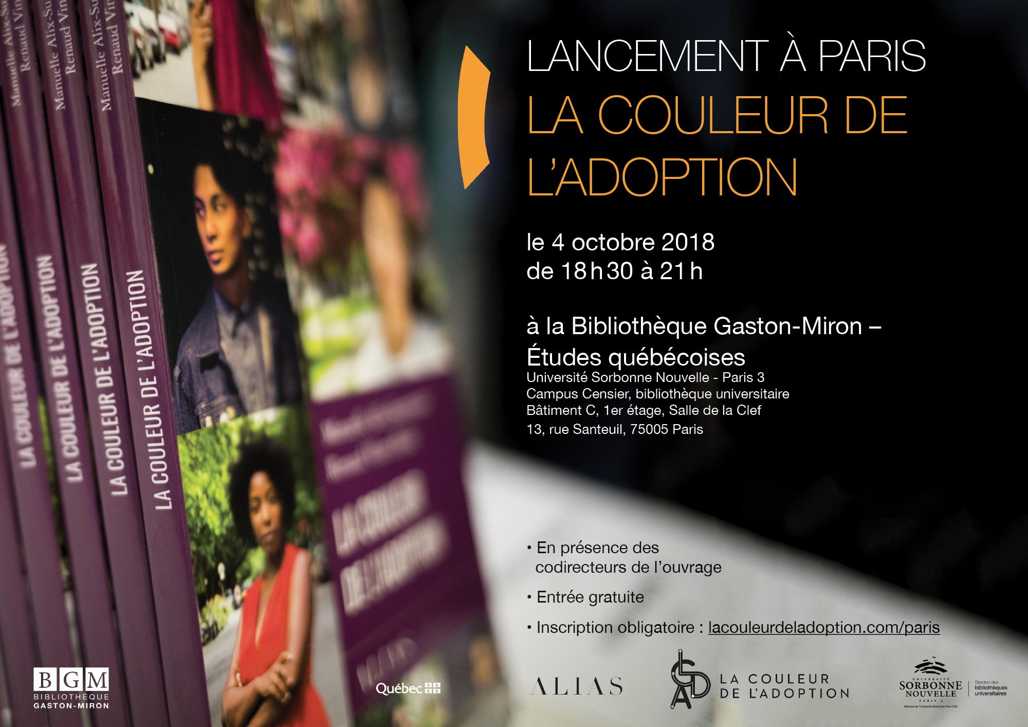Affiche, la couleur de l'adoption