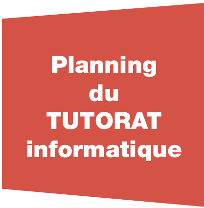 Planning du tutorat informatique