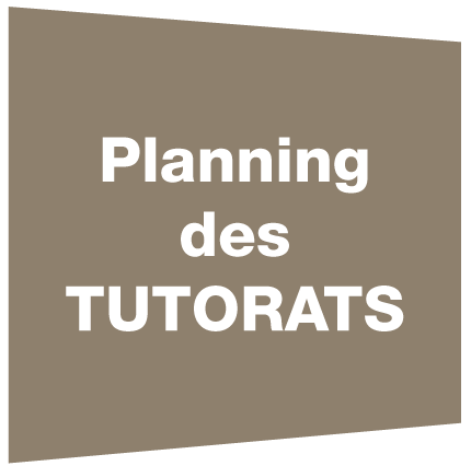 Planning des tutorats