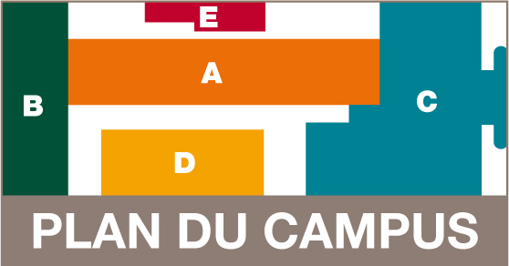 Plan du Campus Censier