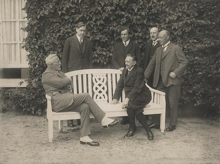 Leo Frobenius et Guillaume II à la Haus Doorn, 1933/1934 (c) Institut Frobenius, Francfort-sur-le-Main