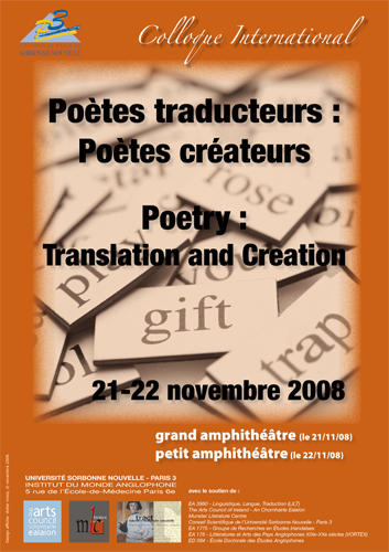 Affiche A3 poetes poetry