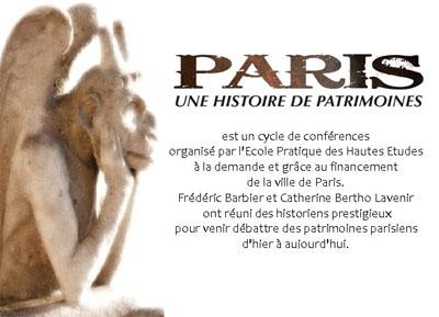Paris - Histoire de patrimoines