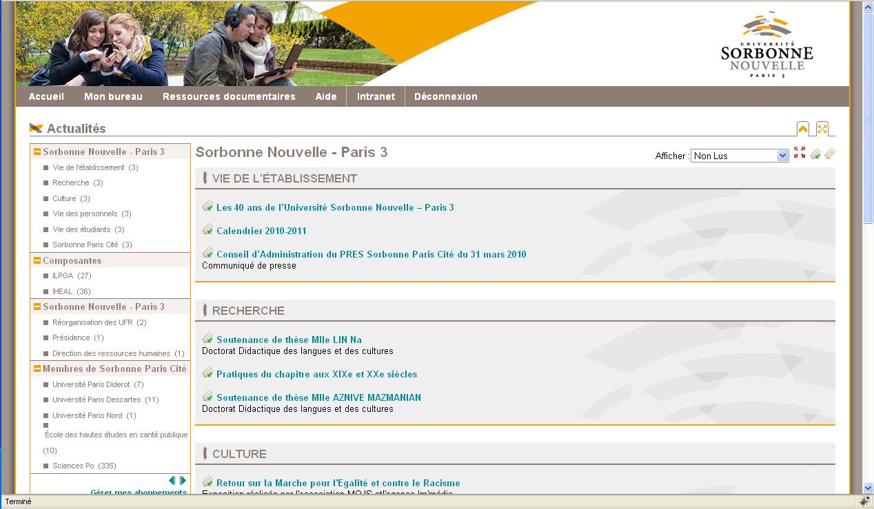 Sorbonne Calendrier.Universite Sorbonne Nouvelle Paris 3 Creation D Une
