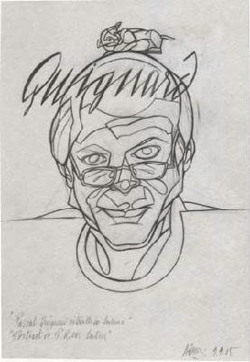 Portrait de Pascal Quignard en latin(c)Valerio Adami